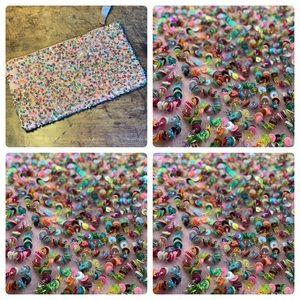 Jasper & Jeera Confetti Sequin Rainbows Petite Zip